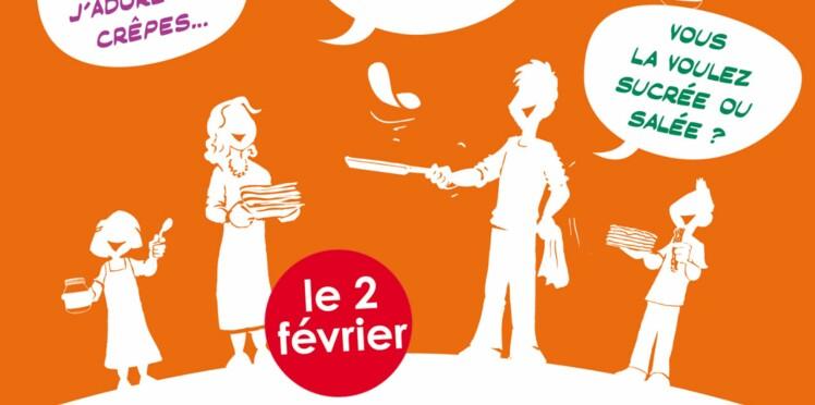 Dégustations de crêpes gratuites pour la Chandeleur des Voisins