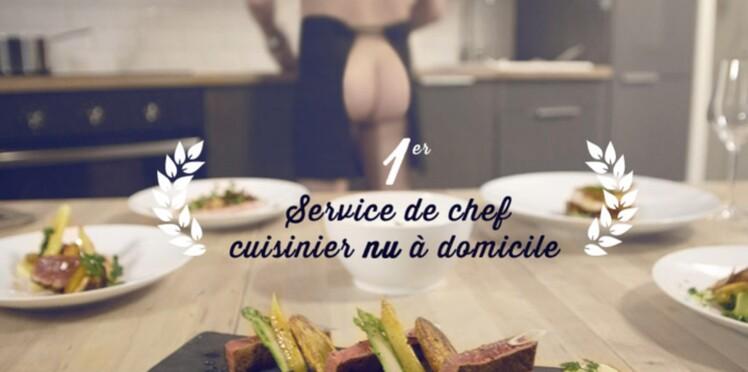 Ça buzze : le premier service de cuisinier nu à domicile
