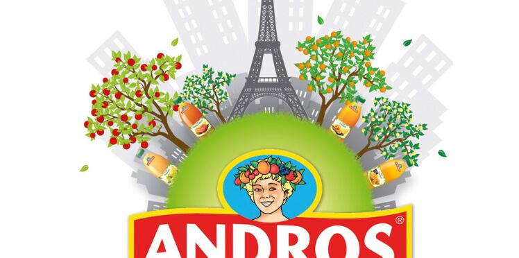 Dégustation de jus de fruits dans les vergers Andros