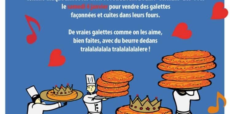 La galette des chefs, la galette du cœur