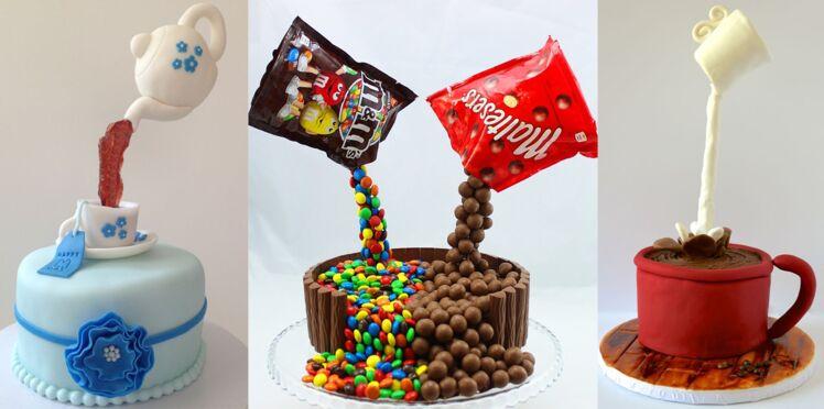 Gravity cake, le dernier gâteau à la mode