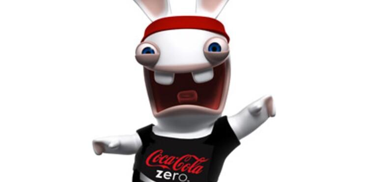 Les lapins crétins sur les canettes de Coca-Cola Zéro à partir de juin