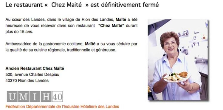 Le restaurant de Maïté ferme ses portes après 15 ans d'activité