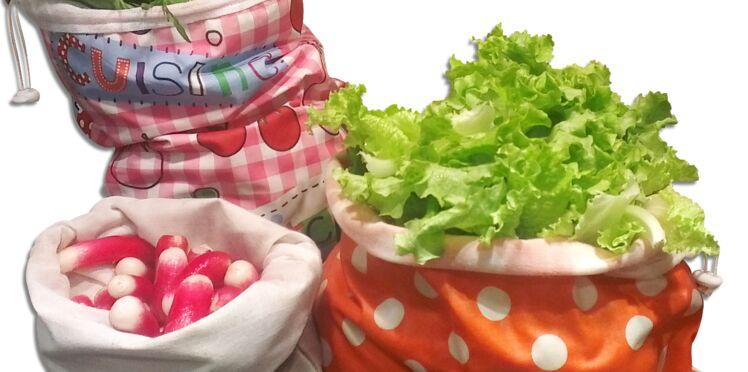 Le sac à salades prolonge la fraîcheur des légumes