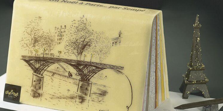 L'illustrateur Sempé signe la bûche de Noël Lenôtre