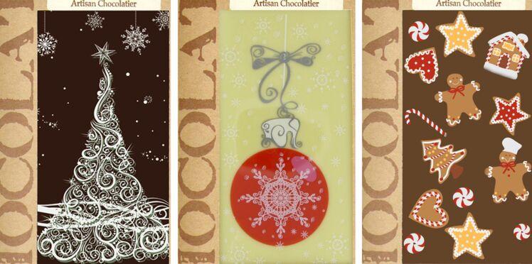 Des tablettes de chocolat pour les fêtes