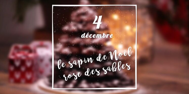 VIDEO - Un sapin de Noël rose des sables