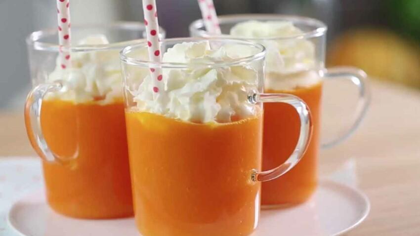La délicieuse recette du cappuccino carottes citron chantilly