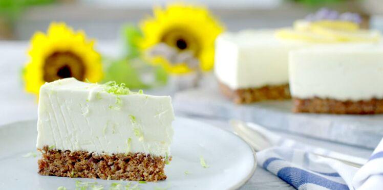 Cheesecake au citron facile, sans cuisson, sans oeufs et sans gluten !