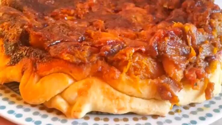 Une pizza-tarte tatin de potimarron, c'est la tartizza !