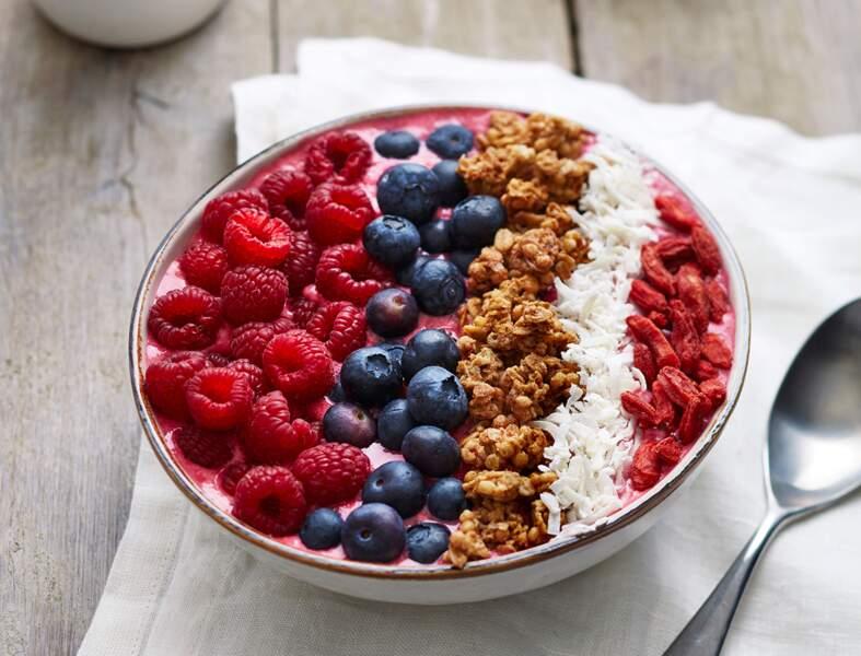 Smoothie bowl aux framboises