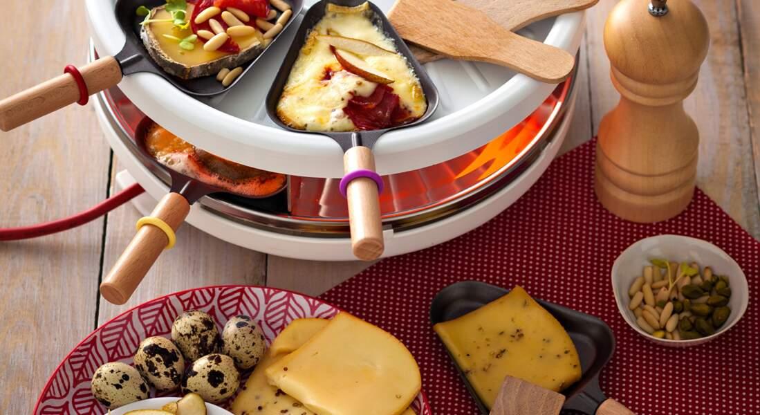 Raclette : 3 versions de poêlons