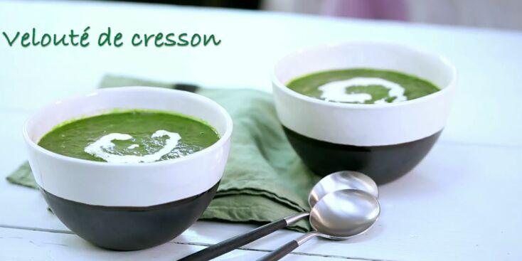 La recette express du velouté de cresson