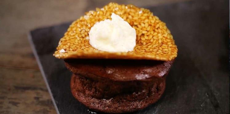 La recette du moelleux au chocolat-caramel