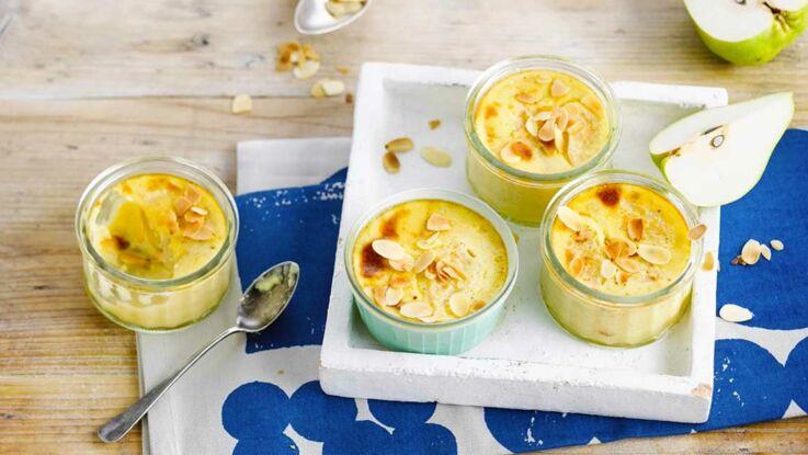La recette des petites crèmes poire-vanille sans lactose en vidéo