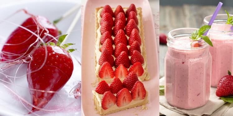 Nos recettes faciles et rapides avec des fraises