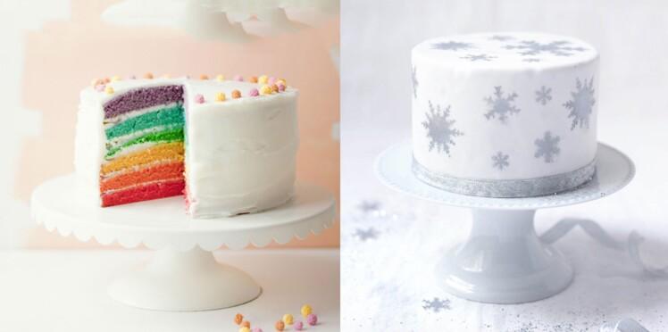 Reine des neiges, arc-en-ciel, piñata : nos recettes de gâteaux d'anniversaire à étages