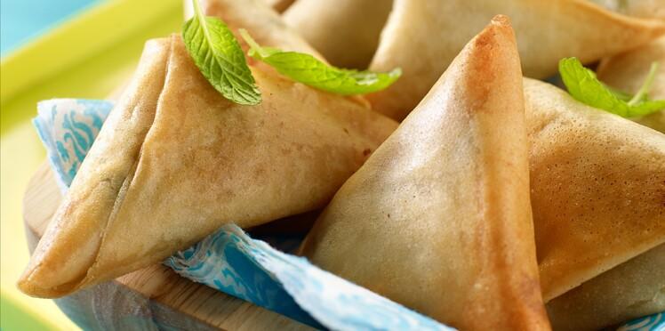La recette des samossas aux petits pois pas-à-pas