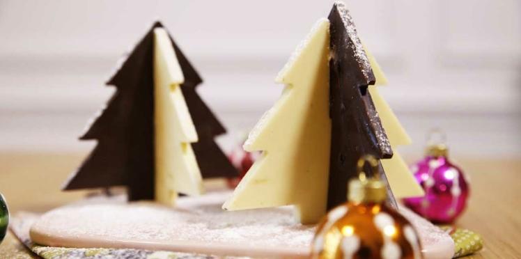 Des sapins aux deux chocolats pour Noël