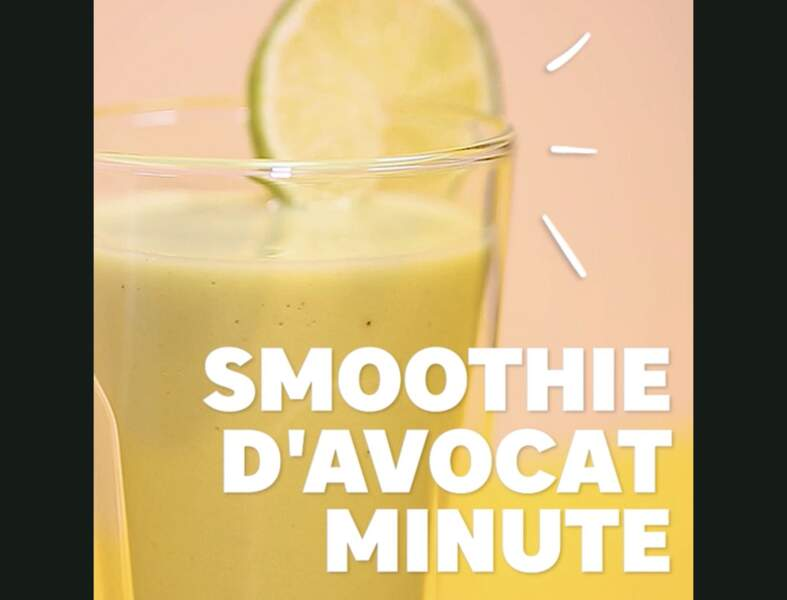 Smoothie d'avocat minute