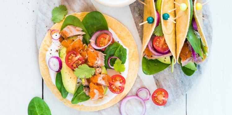 Tacos au thon sauce Escabèche Saupiquet