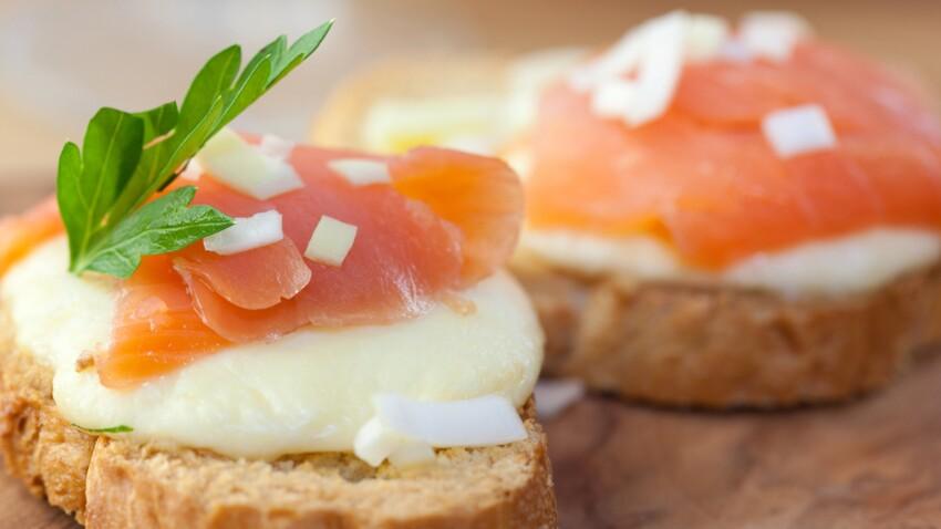 Toasts apéro : 5 recettes de la mer à tartiner