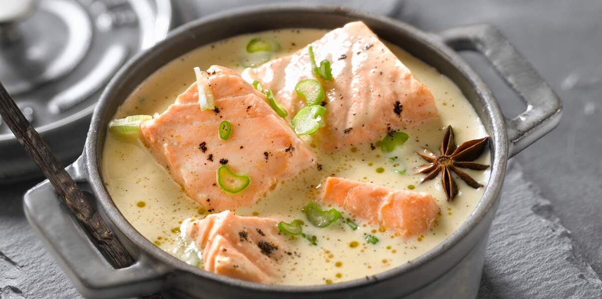 Blanquette de saumon vanille anis étoilée