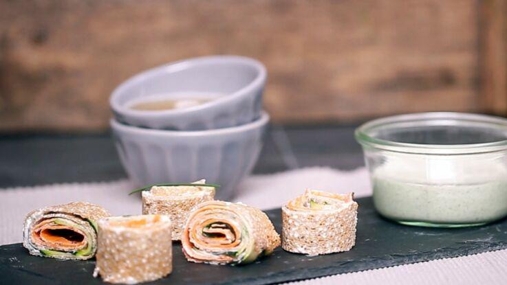 VIDEO : des crêpes makis aux légumes pour l'apéro