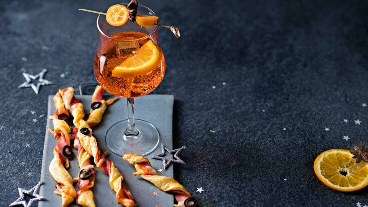 Amuse-bouche et cocktails pour les fêtes, les bons duos pour l'apéro