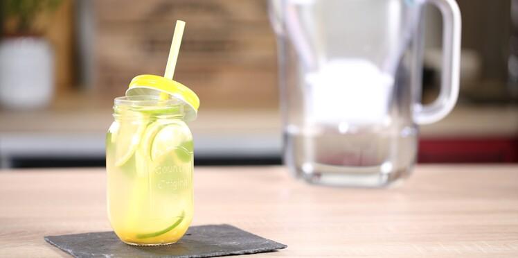 La recette du thé vert glacé au miel, menthe, gingembre à l'eau filtrée