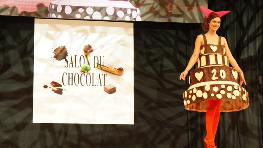 Salon du chocolat 2016 : le défilé des robes en chocolat ! (Vidéo)