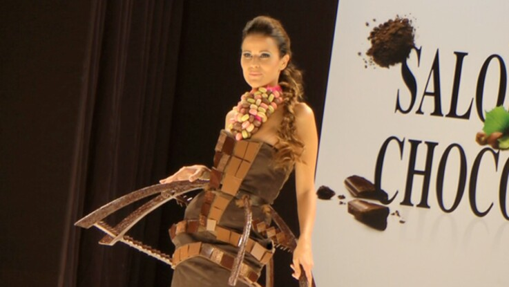 Salon du chocolat : le défilé des robes 2011