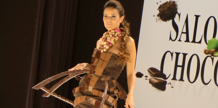 Salon du chocolat : le défilé des robes 2011