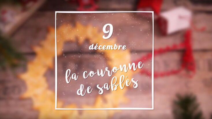 VIDEO - Une couronne de Noël en sablés étoilés
