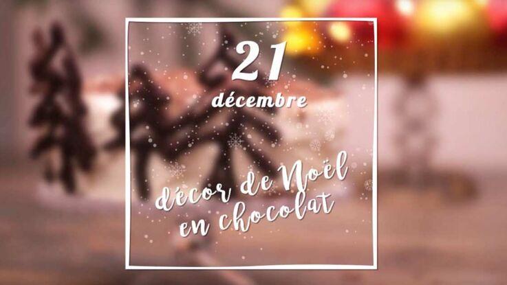 VIDEO – Des sapins décoratifs en chocolat pour le dessert de Noël