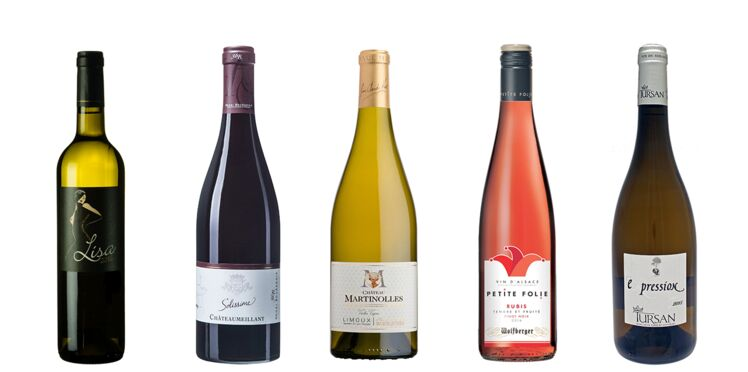 8 bouteilles de vin à servir sur tout le repas
