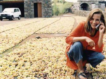 Carole Bouquet « La cuvée 2005, c'est du 100% Bouquet »
