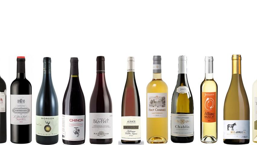 Notre sélection de vins à servir de l'entrée au dessert