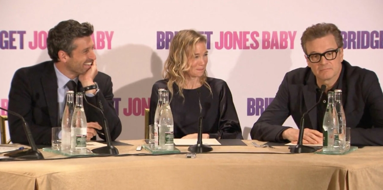 Bridget Jones Baby : l'interview de Patrick Dempsey, Renée Zellwegger et Colin Firth