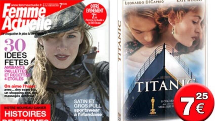 Le DVD de Titanic avec Femme actuelle