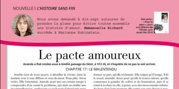 """Inédit: Histoire sans fin """"Le pacte amoureux"""" le chapitre 17 par Emmanuelle Richard"""