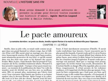 """Inédit: Histoire sans fin """"Le pacte amoureux"""" le chapitre 11 par Agnès Martin-Lugand"""