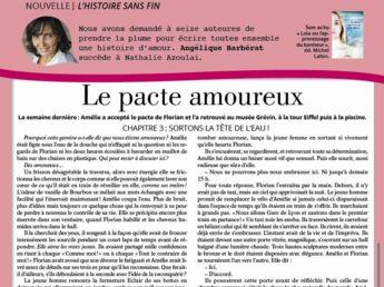 """Inédit: Histoire sans fin """"Le pacte amoureux"""" chapitre 3 par Angélique Barbérat"""