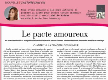 """Inédit: Histoire sans fin """"Le pacte amoureux"""" le chapitre 10 par Emilie Frèche"""