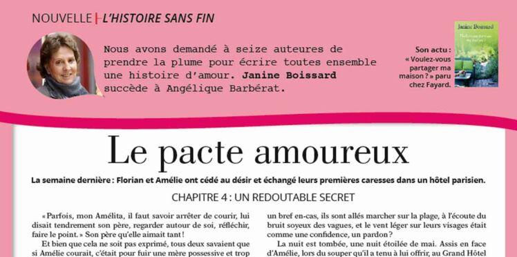 """Inédit: Histoire sans fin """"Le pacte amoureux"""" le chapitre 4 par Janine Boissard"""