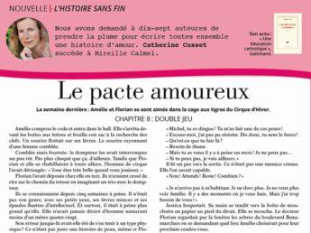 """Inédit: Histoire sans fin """"Le pacte amoureux"""" le chapitre 8 par Catherine Cusset"""