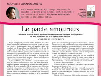 """Inédit: Histoire sans fin """"Le pacte amoureux"""" le chapitre 16 par Marianne Rubinstein"""
