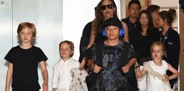 [Photos] Angelina Jolie et Brad Pitt : leur fille Shiloh impose son style garçon manqué