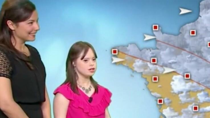Mélanie réalise son rêve, elle présente la météo