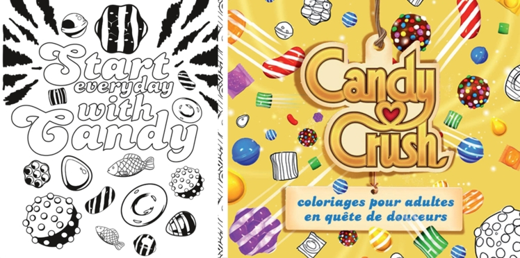 Candy Crush : le livre de coloriage
